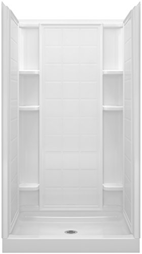 STERLING, a KOHLER Company 72110100-0 Ensemble 42 Series 7211 Tile Alcove Shower, 42-Inch x 34-Inch x 75-3/4-Inch, White