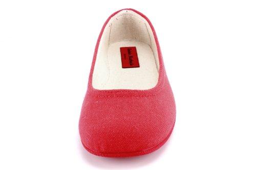 Andres Machado.AM527.Ballerines en Toile .Pour Femmes.Pointures de la 32 à la 45..MADE IN SPAIN Rojo