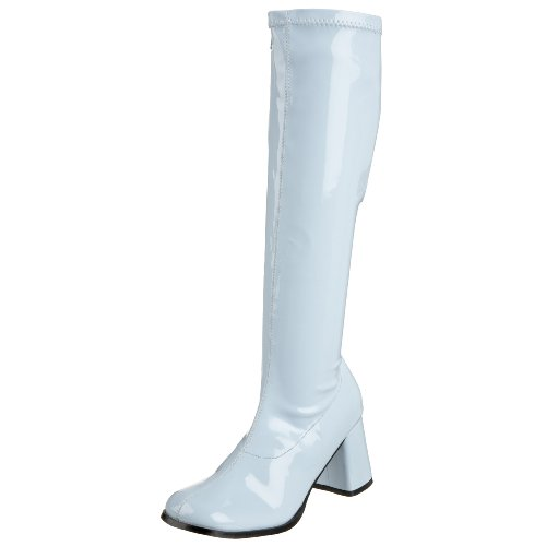 Funtasma von Pleaser Frauen Gogo-300 Boot Baby Blue Stretch Patent