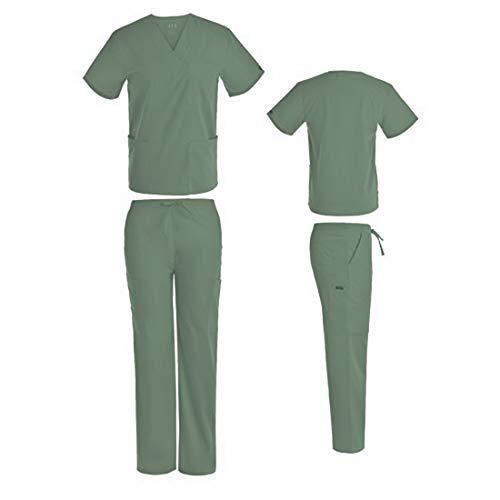 - DSF Medical Uniform Unisex Scrub Set, Sage Green, XS