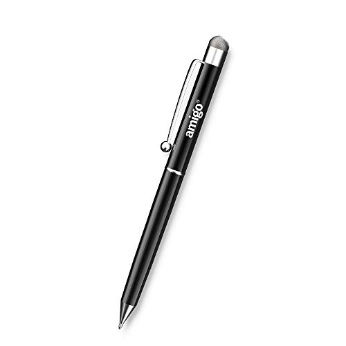 Amigo Touch Screen Stylus Pen with Copper Cloth Tip Perfect for Drawing, Writing & Gaming ( Black)