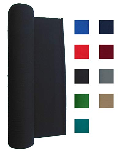 (Performance Grade Pool Table Felt - Billiard Cloth - for an 8 Foot Table Black )