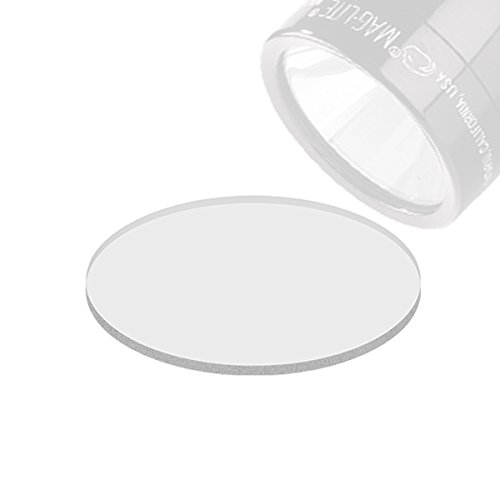 Weltool Maglite Flashlight Lens Upgrade Compatible C or D Cell Maglite Flashlights - Tempered Glass Lens Shatterproof and UltraClear (2pcs)