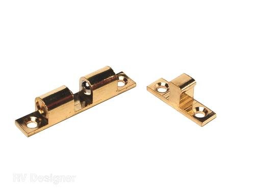 RV Designer H221, Bead Catch, Brass, 2 inch, 2 Per Pack, Cabinet Hardware (6)