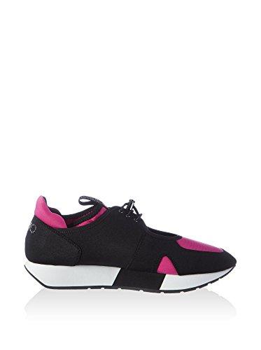 Liu Jo Sneaker mujer May Tejido Tecno Negro Fuxia Negro / Fucsia
