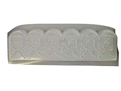 Ivy Leaf Border Edging Concrete Plaster Mold 5009 ()