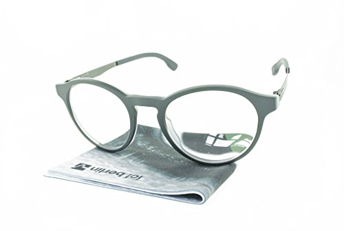 Brand New Authentic ic! berlin eyeglasses Bernhard Round Metal Frames (Matte - Berlin Frame Ic