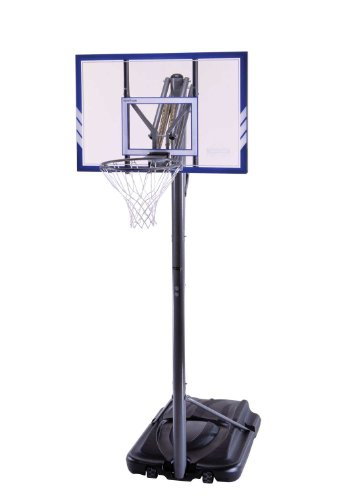 Lifetime 71546 Portable Basketball System, 44 Inch Shatterproof Backboard