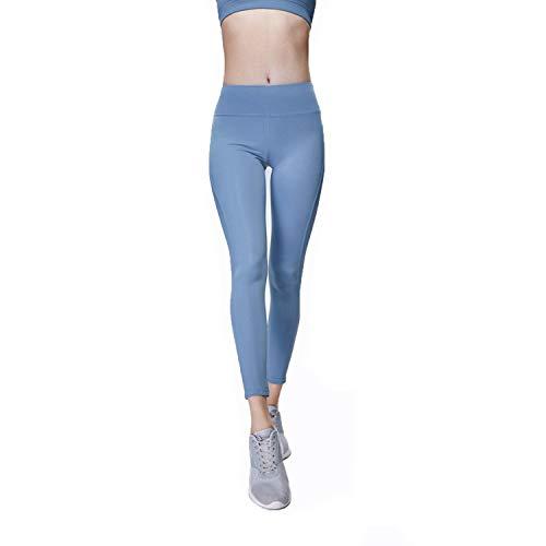 Colore Donna Da Elasticizzato Blue Alta Semplice Fitness Puro Allenamento Yoga Di Cjjc Leggings Corsa Vita Pantaloni Sportivi qxpwptXB