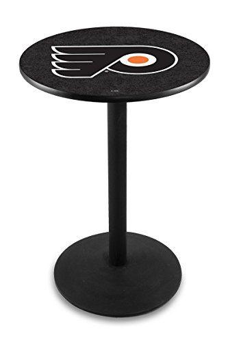 Holland Bar Stool L214 NHL Philadelphia Flyers (Black Background) Licensed Pub Table, 28