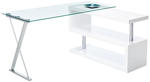 247SHOPATHOME IDF-DK6131WH Office-desks, White