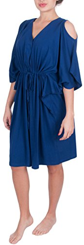 Hospital Maternity Delivery and Nursing Kaftan Robe (L/XL, (Bella Robe)