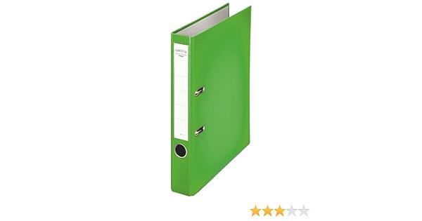 Leitz Chromos 231146 Folder A4 with Slits Slim Plastic Apple Green