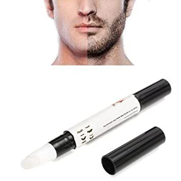 Natrual Beard Growth Pen Facial Hair Mustache Sideburns Eyebrow Enhancer Cream by Aroundstore