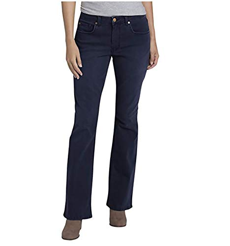 Dickies Women's Perfect Shape Denim Jean-Bootcut Stretch, Rinsed Indigo Blue, -