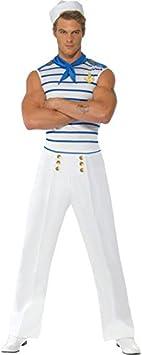 Smiffys Disfraz Fever de Marinero francés, con Top, Pantalones y ...