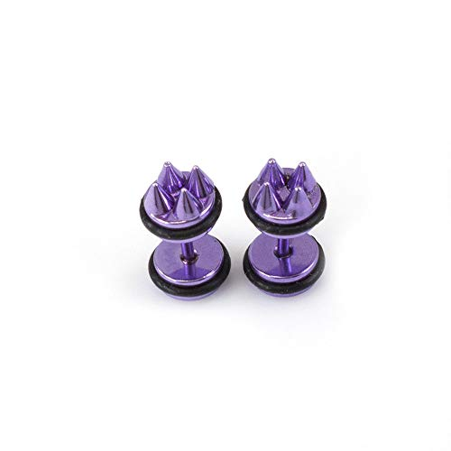BodyJewelryOnline Fake Faux Cheater Illusion Ear Tapper earings with Metalic Spike Design 16G