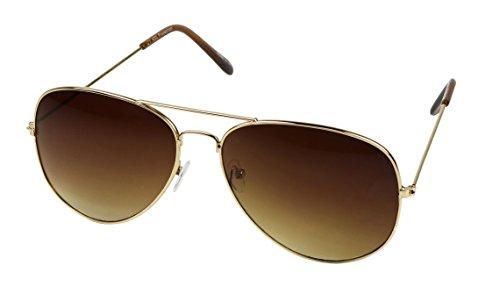 Basik Eyewear - Vintage Classic Fashion Aviator Pilot Unisex Sunglasses - Glasses Trending 2016 Frames