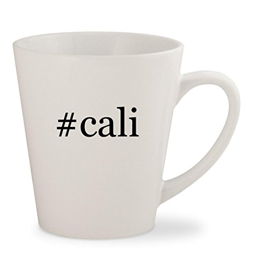 #cali - White Hashtag 12oz Ceramic Latte Mug Cup Skechers Girls Cali Gear