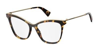 Marc Jacobs Plastic Rectangular Eyeglasses 54 0086 Dark - Marc Havana Frames Jacobs