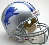 NFL Riddell Detroit Lions Silver 1962-1968 Throwback Replica Full-Size Helmet