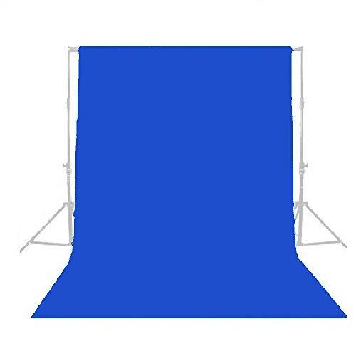 ePhotoInc Photography 10' X 10' Blue Muslin Backdrop Chromakey Blue Screen Photo Video Background 1010BLUE by ePhotoinc