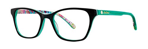 Lilly Pulitzer Sydney GN Green Plastic Rectangle Eyeglasses 51mm