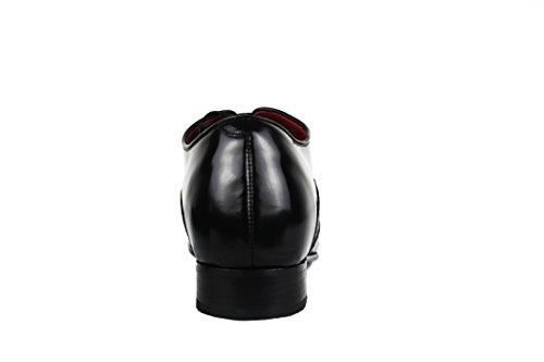 ZERIMAR Scarpe con Aumentato Interno di 7 cm Realizzata in Pelle di Alta Qualità Stile Casual 100% Pelle Colore Nero Taglia 42