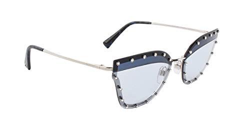Valentino VA2028 Silver/Azure Lens Sunglasses ()