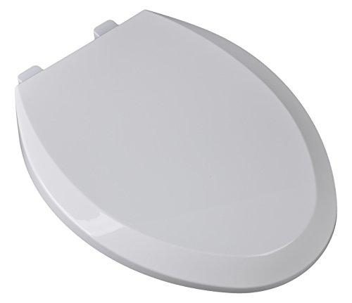 Bath Décor 2F1E9-00 Premium Plastic Family Slow Close Elongated Top Mount Toilet Seat with Adjustable Hinge