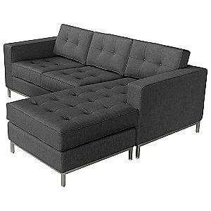 Jane Loft Bi Sectional in Totem Storm