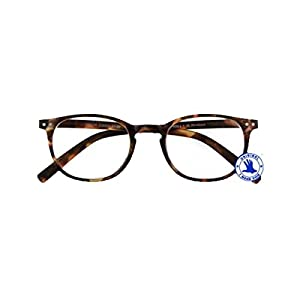 Reading Glasses Havana Turquoise Prescription Junior Select Eyewear For Men & Women With Spring Hinge And High-Quality Plastic - +3.0 Power / Strength
