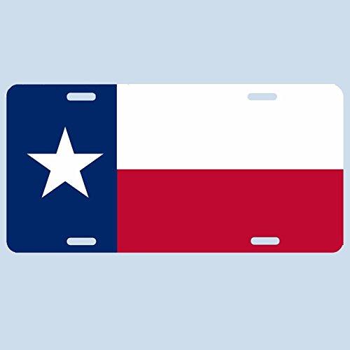 Republic of Texas Flag Novelty Car License Plate Tag Aluminum Baked on Finish
