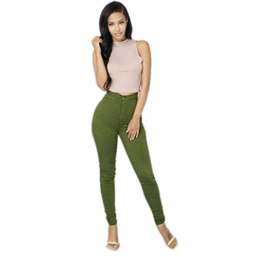 Verde kword Colori Jeans Donna Denim Donna Casual Pantaloni Multi Da Ragazza wqAvH