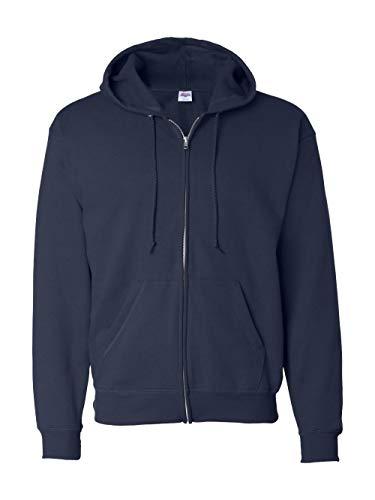 Hanes Men's ComfortBlend Full-Zip Hood 7.8 oz., XL-Navy