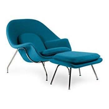 Super Kardiel Womb Chair Ottoman Caribbean Boucle Cashmere Wool Dailytribune Chair Design For Home Dailytribuneorg