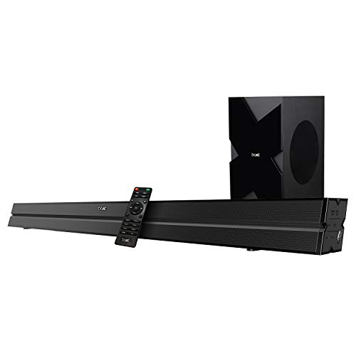 boAt Aavante Bar 1500 2.1 Channel Home Theatre Soundbar with 120W boAt Signature Sound, Wired Subwoofer, Multiple Connectivity Modes, Entertainment EQ Modes and Sleek Finish (Black)