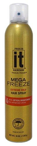 Freeze It, Mega Freeze Hair Spray, 10.oz Pack 3 (Freeze It Spray compare prices)
