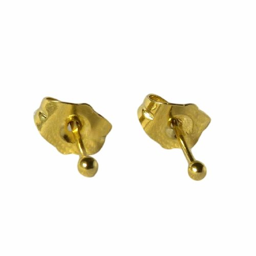 a944fd8266dc5e Teeny Tiny Small 18ct Gold Filled Ball Stud Earrings 2mm Girls Womens. by blue  diamond club