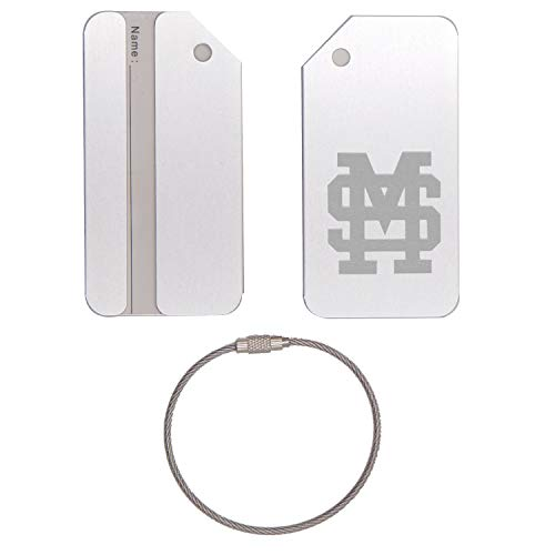 Gym State Mississippi Bulldogs Bag (MISSISSIPPI STATE BULLDOGS STAINLESS STEEL - ENGRAVED LUGGAGE TAG (METALLIC SILVER) - FOR ANY TYPE OF LUGGAGE, SUITCASES, GYM BAGS, BRIEFCASES, GOLF BAGS)