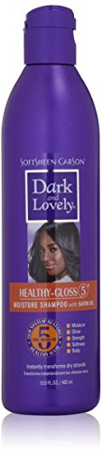 k and Lovely Healthy-Gloss 5 Moisture Shampoo with Satin Oil, 13.5 fl oz (Lovely Satin)