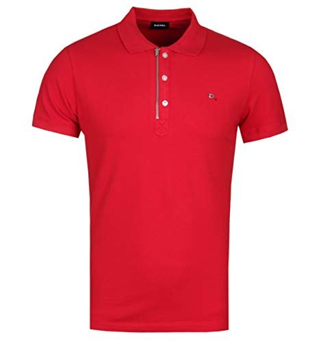 Diesel Cotton Polo Shirt - Diesel Men's Stretch Polo Shirt T-KALARS red (XXL)