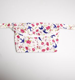 Sass & Belle Bum Bag - Swallows and Flowers Print