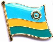 Backwoods Barnaby Rwanda Flag Lapel Pin/International Travel Pins