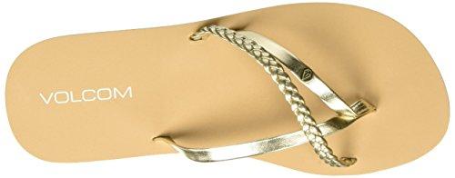 Volcom Thrills Zehentrenner, Chanclas Para Mujer Gold (Gold)