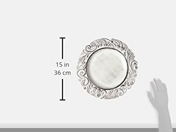 14-Inch ChargeIt by Jay Elegant Rim Round Charger Plate Silver