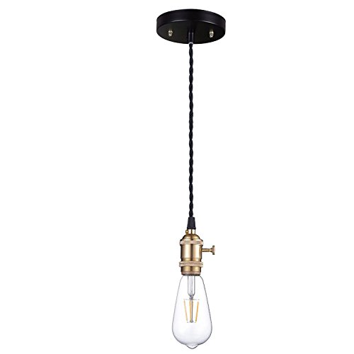 Pendant Light Kit With Switch : Jackyled e modern rose gold effect ceiling hanging