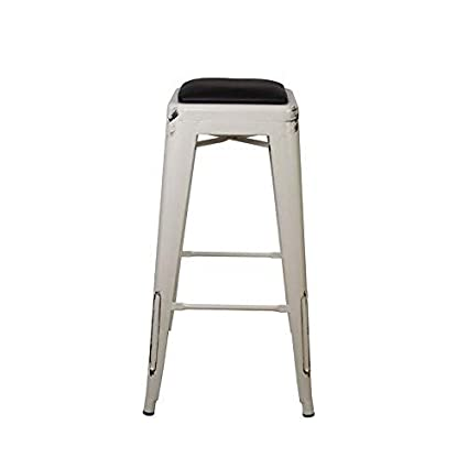 Awe Inspiring Gia 30 Inch Backless Bar Height Stool With Faux Leather Seat Antique White Black 4 Pack Pdpeps Interior Chair Design Pdpepsorg
