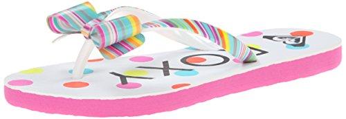 Roxy RG Lulu II Sandal (Little Kid/Big Kid),White/Aqua,1 M US Little Kid
