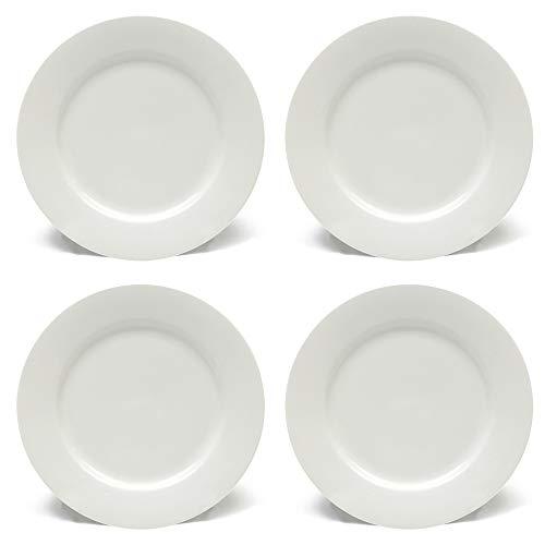 Maxwell & Williams White Basics - Maxwell Williams White Basics Rim Side Plates with Rims, Porcelain, White, 19 cm, Set of 4